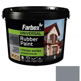 Гумова фарба Farbex сіра (12 кг)