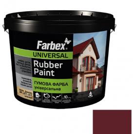 Гумова фарба Farbex червоно-коричнева (12 кг)