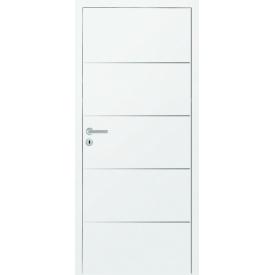 DesignLine Plain межкомнатные двери Huga полотно имеет стальные вставки в уровень с поверхностью 900х2000х140 цена за блок
