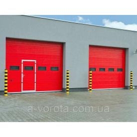 Промышленные секционные ворота alutech protrend3250х3085 мм