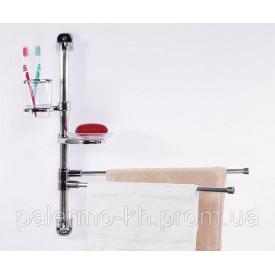 Набір аксесуарів для ванної кімнати поворотний до стіни Хром PrimaNova