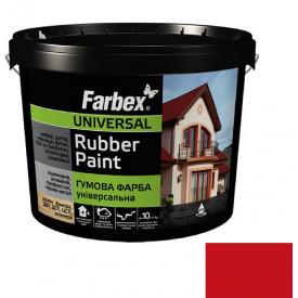 Гумова фарба Farbex червона (12 кг)