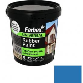 Гумова фарба Farbex білі-блакитна (1.2 кг)