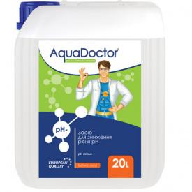 Рідкий склад AquaDoctor pH Minus (Сірчана 35%) 20 л.
