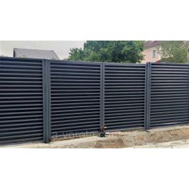 Распашные металлические ворота Жалюзи ш3000 в2000