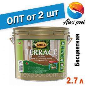AURA TERRACE 2,7 л бесцветный Масло для террас Пропитка с тунговым маслом для древесины