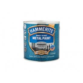 Эмаль молотковая Hammerite серебристо-серая 0,7 л