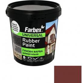 Гумова фарба Farbex червоно-коричнева (1.2 кг)