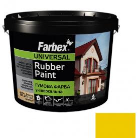 Гумова фарба Farbex жовта (6 кг)