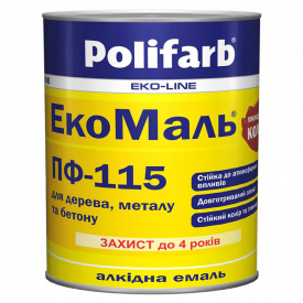 Емаль ПОЛІФАРБ ExtraMal ПФ-115 жовта 0,9кг