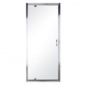 Дверь в нишу распашная 80x195 профиль хром стекло прозрачное 5 мм EGER 599-150-80(h)