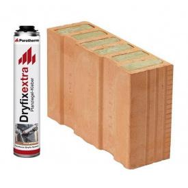 Керамический блок Porotherm 38 1/2 T Dryfix 380х124х249 мм
