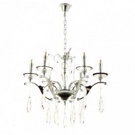 Люстра классическая Flora с прозрачным декором из стекла 6 ламп Хром (OU016/6/chrom) (MR08747)