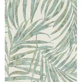 Виниловые обои на флизелиновой основе Rasch Linares 617443 Белый-Зеленый