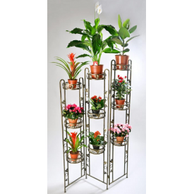 Подставка для цветов Холодная ковка Раскладушка ширма 9