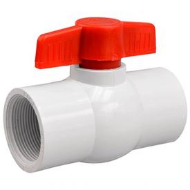 Кран шаровый Presto-PS 50 мм с внутренней резьбой 2 дюйма белый (PF-0163)
