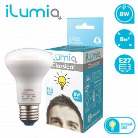 Светодиодная лампа ilumia 016 L-8-R63-Е27-WW 800Лм 8Вт 3000К