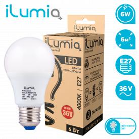 Светодиодная лампа ilumia 013 L-6-MO-E27- NW-36 600Лм 6Вт 36В 4000К