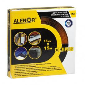 Двостороння бутилкаучукова клейова стрічка Alenor K2 15 мм 15 м
