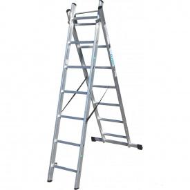 Универсальная раскладная лестница ELKOP VHR T 2x7 алюминиевая