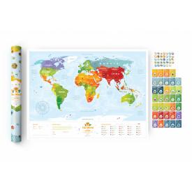 Скретч карта мира Travel Map Kids Sights