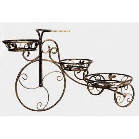 Подставка для цветов Холодная ковка Велосипед 3