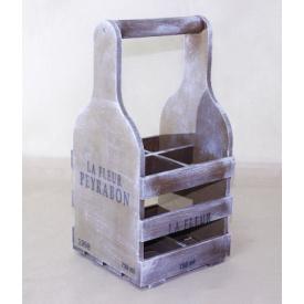 Підставка для вина Холодна ковка Прованс Келих на 4 пляшки коричневий