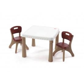 Набор KITCHEN TABLE & CHAIRS из стола 50x35x35 см и 2 стульев 48x64x64 см