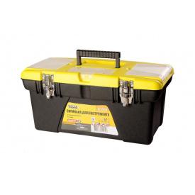 """Ящик для инструмента 19"""" 480x250x30мм съемные органайзеры (79-2319)"""
