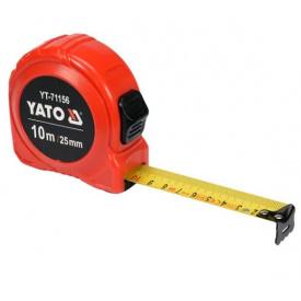 Рулетка YATO 10мx25мм, с двойной блокировкой (YT-71156)