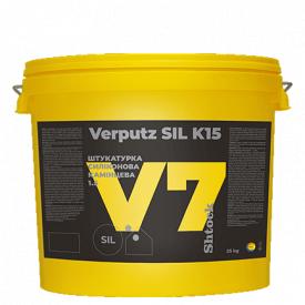 Штукатурка силиконовая Shtock Камешковая Verputz SIL K15 V7 база C прозрачная 25кг