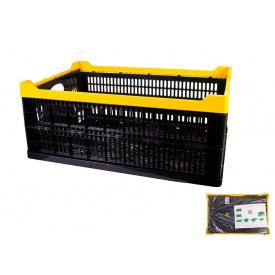 Ящик складной пластиковый MasterTool 600x400x240мм, черный (79-3950)