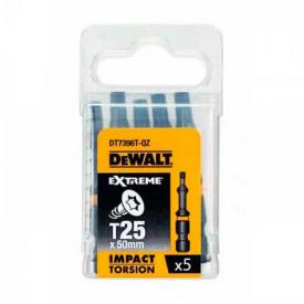 Биты ударные DeWALT IMPACT TORSION Т25, 50 мм, 5 шт (DT7396T)
