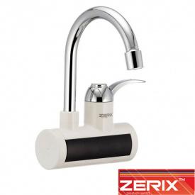 Электрический проточный водонагреватель Zerix ELW 021EW (с индикатором темп.) от стены 3 кВт