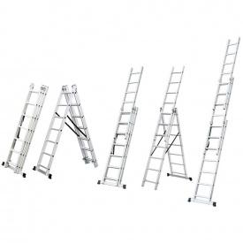 Лестница трехсекционная раскладная Flora 10 ступеней (5032344)
