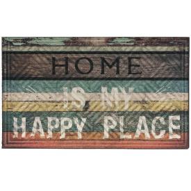 Коврик придверный MULTY HOME Lima Happy Place 45x75см