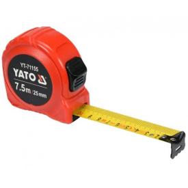 Рулетка YATO 7,5мx25мм, с двойной блокировкой (YT-71155)