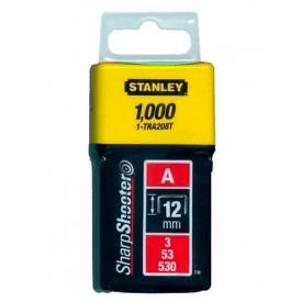 Скобы STANLEY тип А, 12мм, к степлера ручного Light Duty, 1000шт (1-TRA208T)