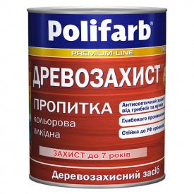 Деревозахист пропітка ПОЛІФАРБ горіх 0,7кг