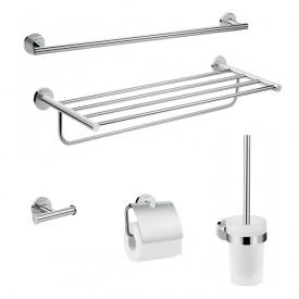 Logis Universal Набор аксессуаров для ванной комнаты 5в1 хром HANSGROHE 41728000