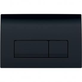 Смывная клавиша Geberit Delta51 двойной смыв цвет черный RAL 9005 115.105.DW.1