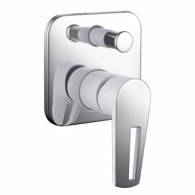 BRECLAV змішувач прихованого монтажу для ванни хром білий 35мм IMPRESE VR-10245WZ