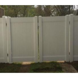 Ворота пластиковые глухие +решетки 3000 мм