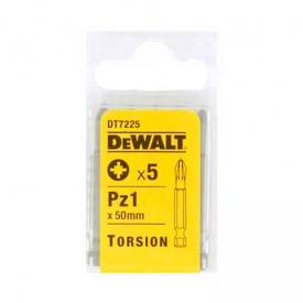 Биты торсионные DeWALT Extra Grip Pz1, 50 мм, 5 шт (DT7225)