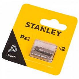 Набор бит STANLEY односторонняя, Pz2, 25 мм, 2 шт (STA61041)