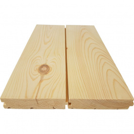 Половая доска из сосны 130x35x4500 мм Дерево Карпати (9393ae579901)