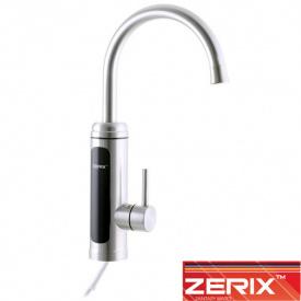Электрический проточный водонагреватель Zerix ELW 034-EP нержавейка (с идикатором темп., с УЗО) на мойку 3 кВт