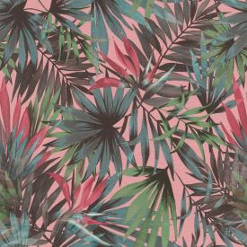 Виниловые обои на флизелиновой основе Rasch Freundin 465235 Розовый-Зеленый-Синий