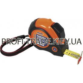10-705 Рулетка 5 м магніт self lock прогумованому з двухстор стрічкою PREMIUM