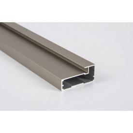 Алюминиевый рамочный профиль для мебельных фасадов М 4 5,95 м коньяк